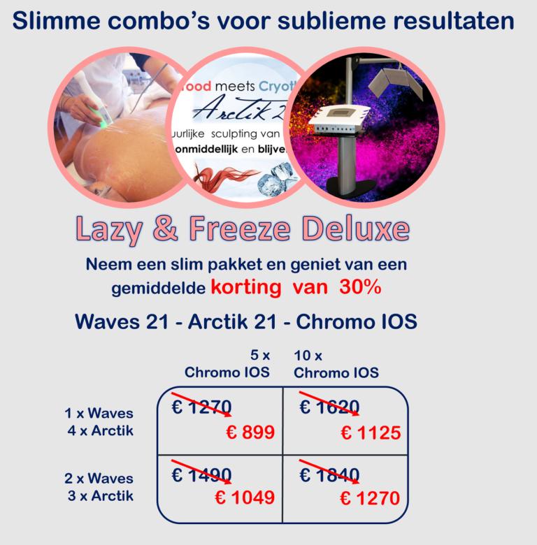 Combineer de Waves met Arctik en Chromo IOS voor een beter resultaat bij het afslanken
